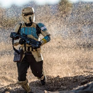 Close call for this Shoretrooper on the beaches of Scarif - Covax Toy Photography